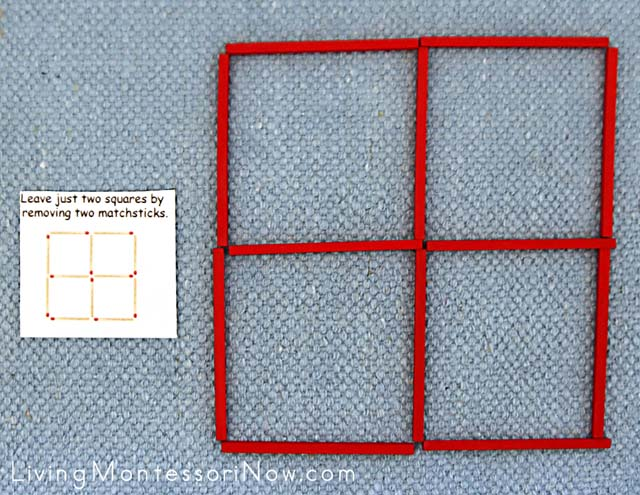 Easy Matchstick Puzzle with Spielgaben Wooden Sticks
