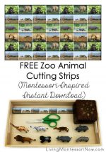 FREE Zoo Animal Cutting Strips (Montessori-Inspired Instant Download)