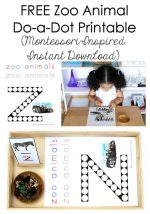 Free Zoo Animal Do-a-Dot Printable (Montessori-Inspired Instant Download) – Montessori Monday