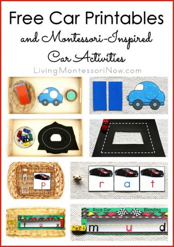 Free Car Printables and Montessori-Inspired Car Activities
