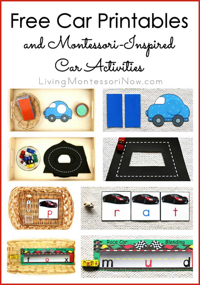 Free Car Printables And Montessori Inspired Activities