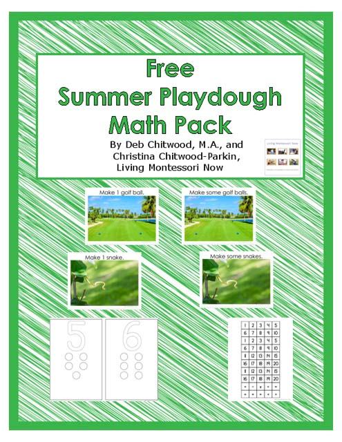 Free Summer Playdough Math Pack (Montessori-Inspired Instant Download) – Montessori Monday