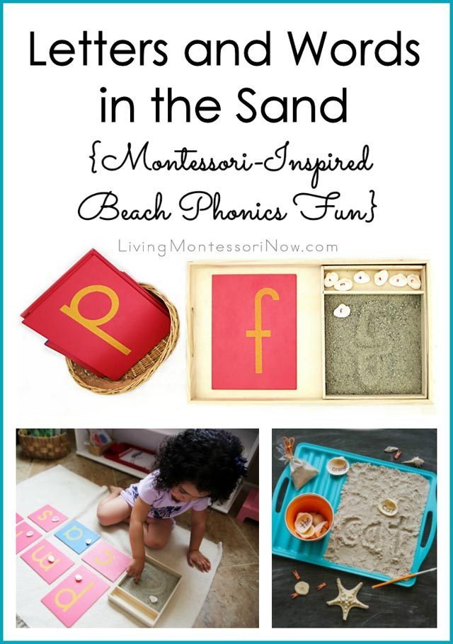 Letters and Words in the Sand {Montessori-Inspired Beach Phonics Fun}