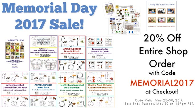 Living Montessori Now 20% off Sale