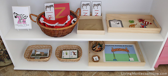 Middle and Bottom Zoo-Themed Shelves