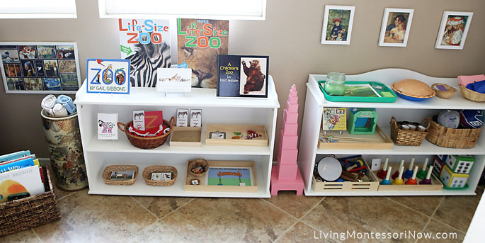 Montessori Shelves for a 3½ Year Old