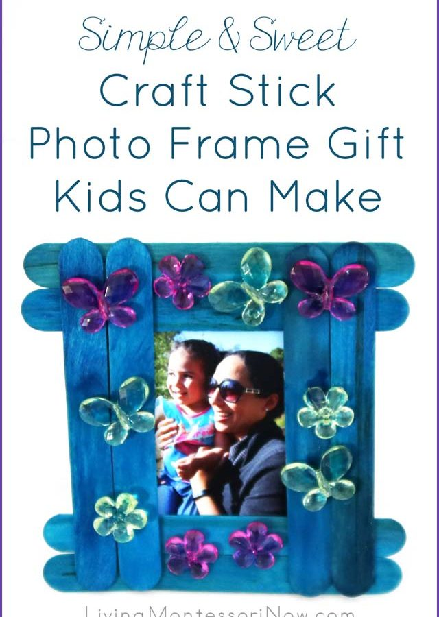 Simple and Sweet Craft Stick Photo Frame Gift Kids Can Make