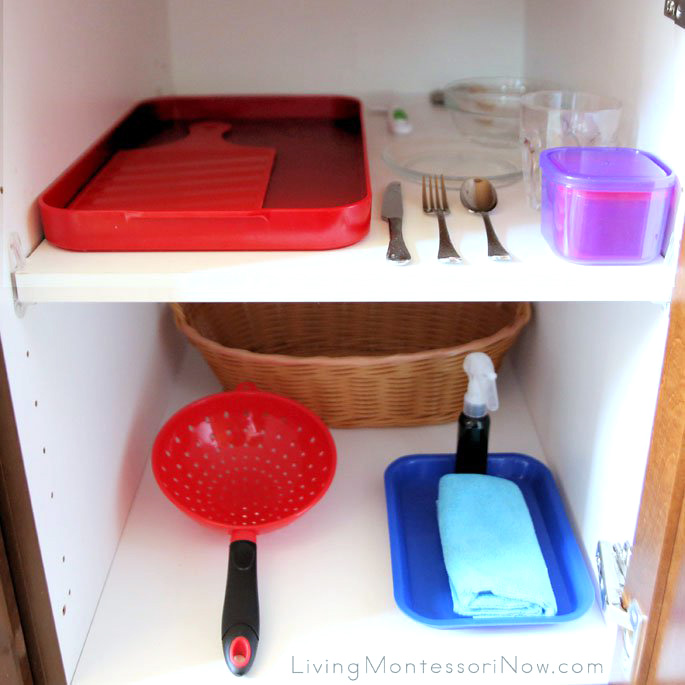 Snack Cupboard for a Preschooler