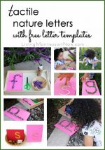 Tactile Nature Letters with Free Printable Letter Templates {Montessori Monday}