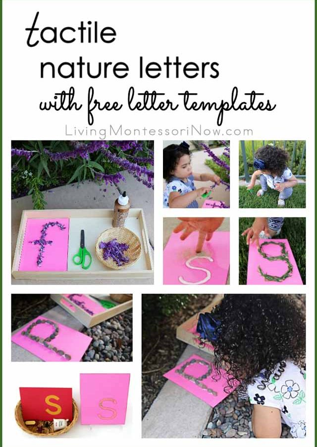 Tactile Nature Letters with Free Printable Letter Templates