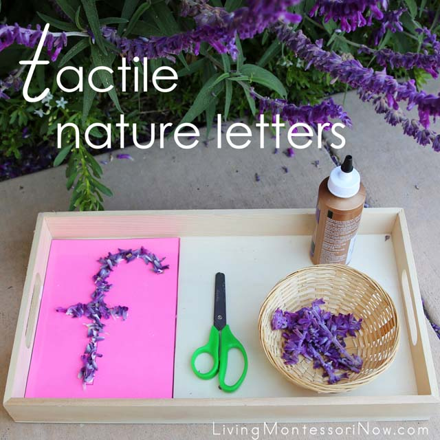 Tactile Nature Letters with Free Letter Templates
