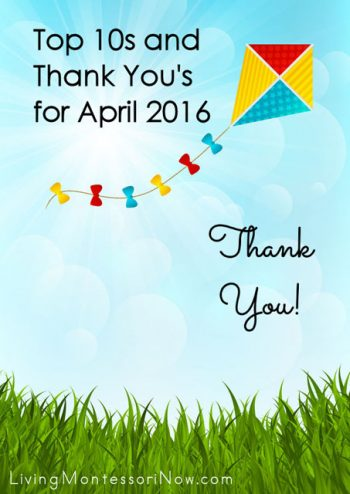 Top 10s and Thank You's for April 2016