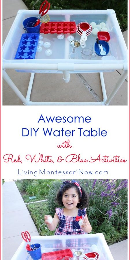 Awesome DIY Water Table with Red, White, and Blue Activities_Pinterest