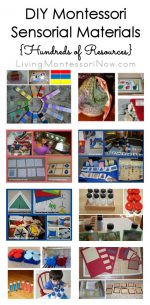 DIY Montessori Sensorial Materials {Hundreds of Resources}