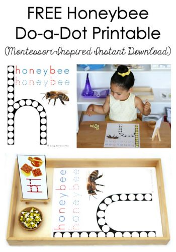 Free Honeybee Do-a-Dot Printable
