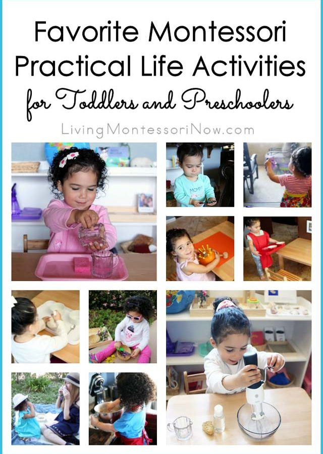 Favorite Montessori Practical Life Activities for Toddlers and Preschoolers