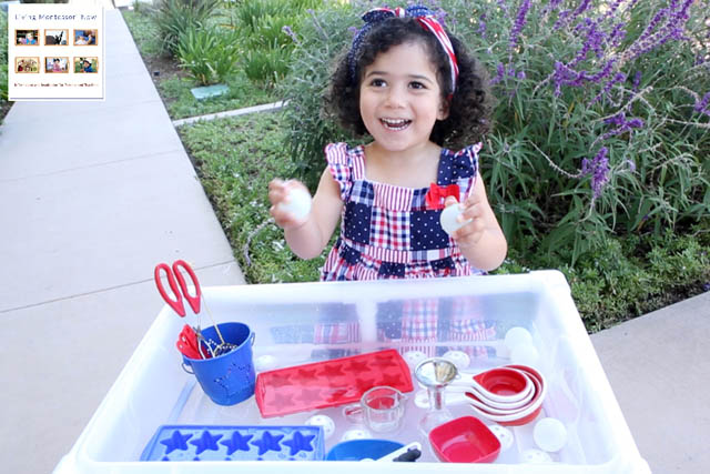 Having Fun with the Patriotic Water Table