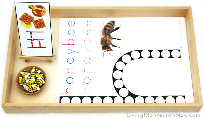 Honeybee Do-a-Dot Letter H Tray with Bee Erasers