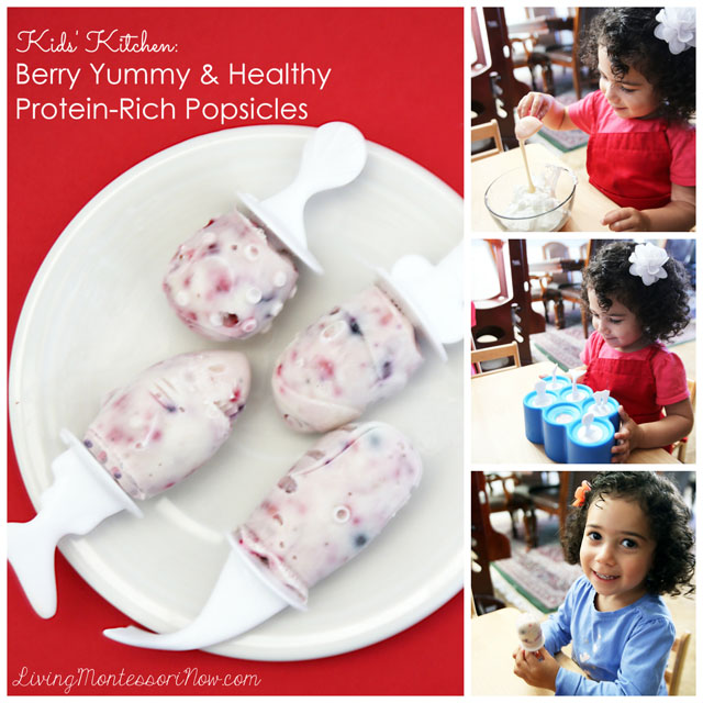 Kids' Kitchen - Berry Yummy and Healthy Protein-Rich Popsicles