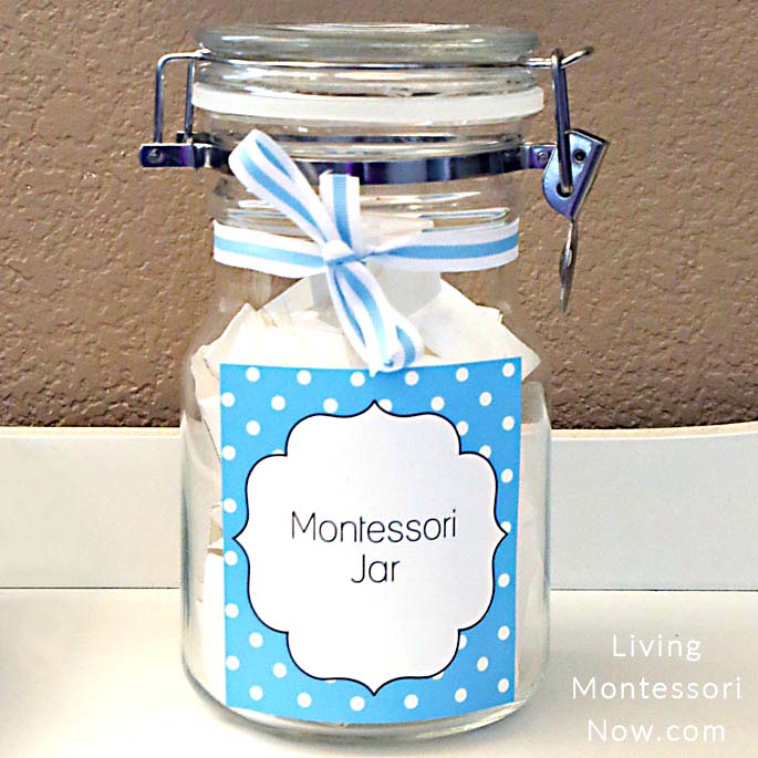 Montessori Jar with Activities for Preschoolers
