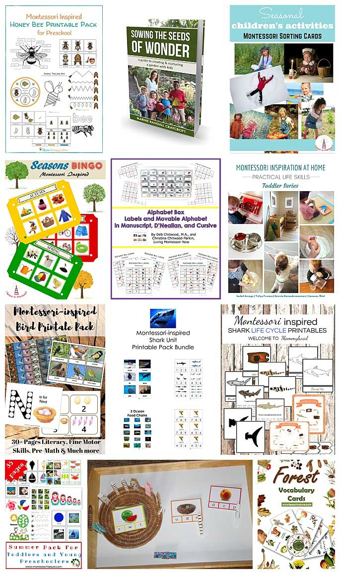 Montessori Resources in the Kids' Summer Break Bundle
