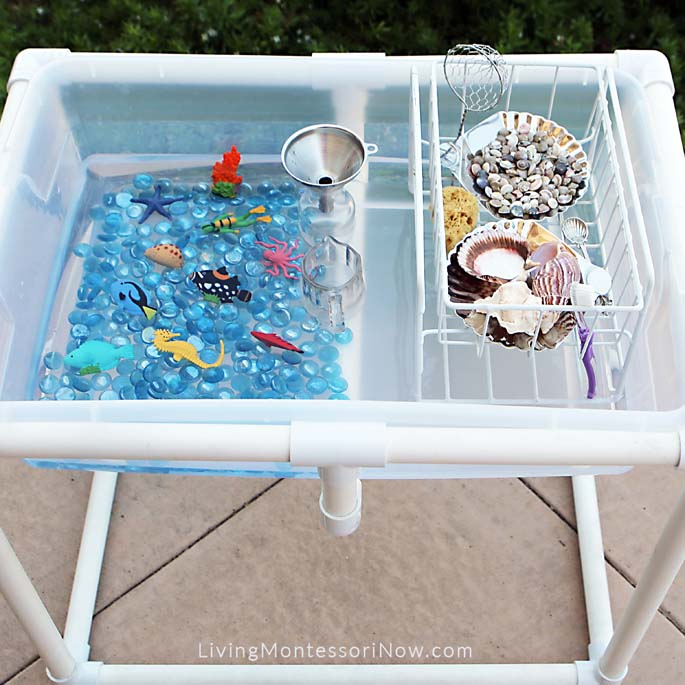 Outdoor DIY Coral Reef Water Table with Practical Life Activities