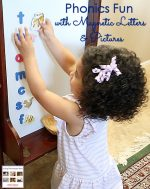 Phonics Fun with Magnetic Letters and Pictures {Montessori Monday}