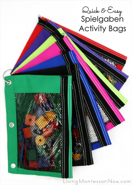 Quick and Easy Spielgaben Activity Bags for Traveling or Waiting_
