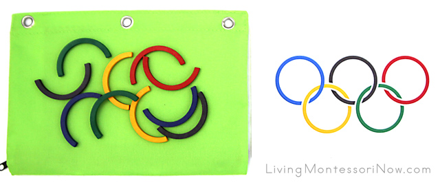 Spielgaben Olympic Rings Activity Bag for Older Kids