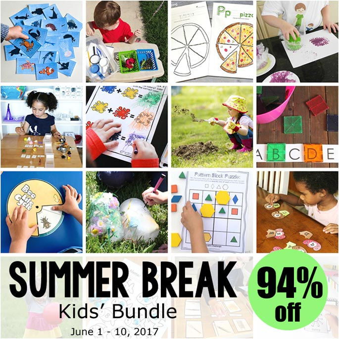 Summer Break Kids' Bundle, 94% Off June 1-10, 2017!