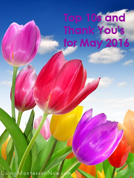 Top 10s and Thank You's for May 2016