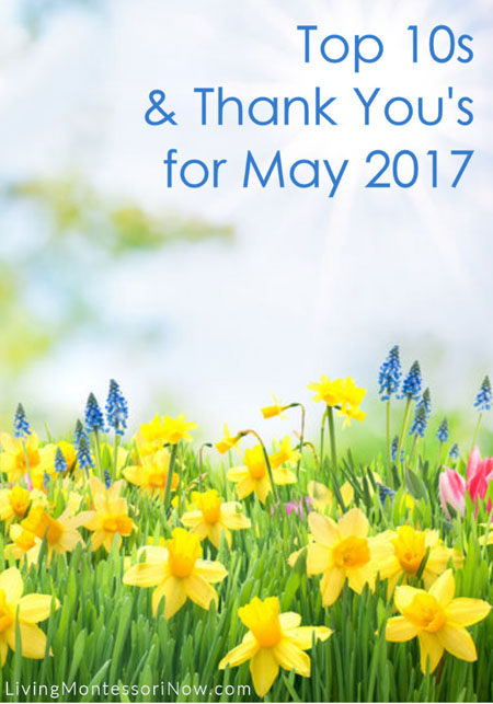 Top 10s and Thank You's for May 2017