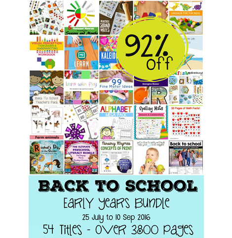 Back to School Early Years Bundle Worth $400 for $29.95!
