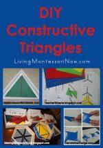 Montessori Monday – DIY Constructive Triangles