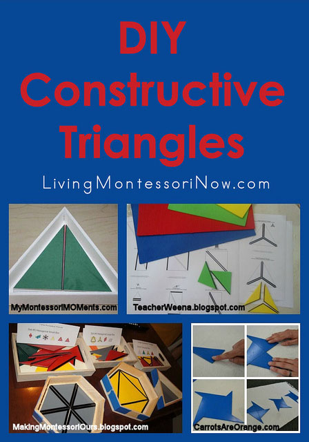 Montessori Monday – DIY Constructive Triangles