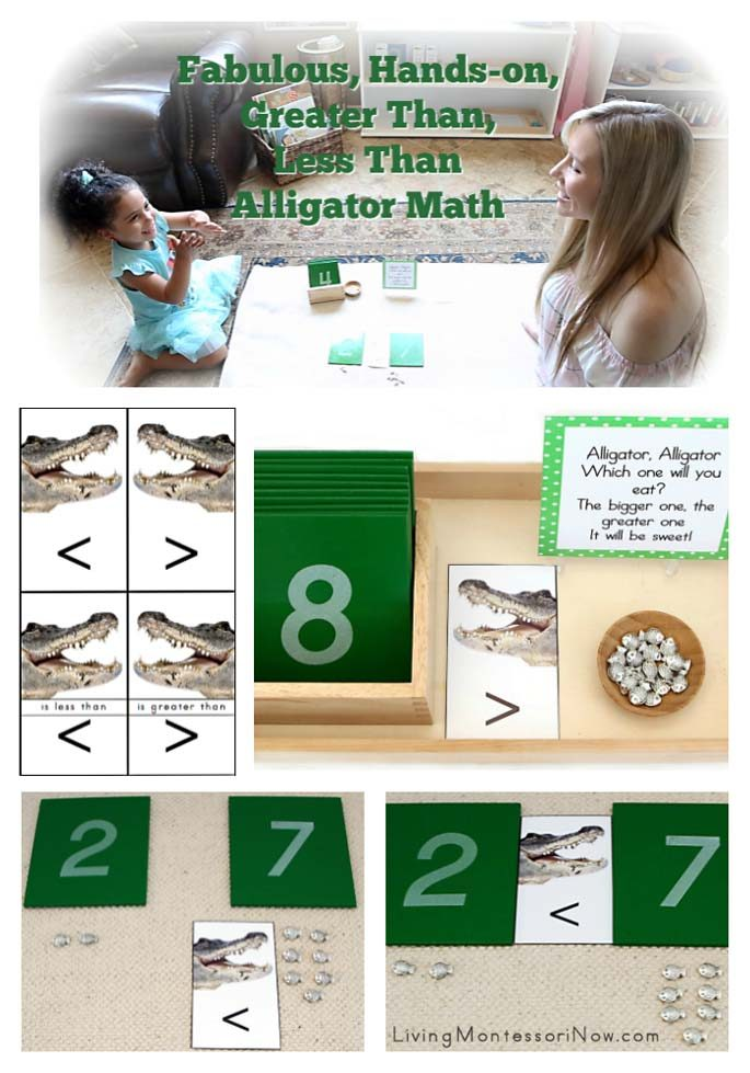 Fabulous, Hands-on, Greater Than, Less Than Alligator Math