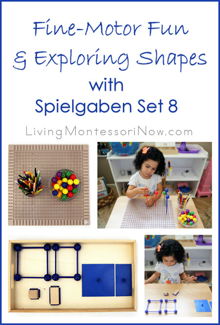 Fine Motor Fun and Exploring Shapes with Spielgaben Set 8