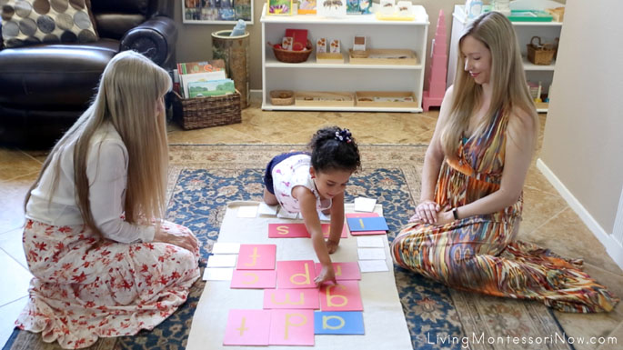 Getting the Sandpaper Letter to Trace in the I Have, Who Has Letter Sounds Game