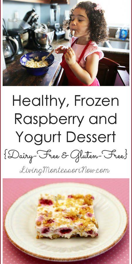 Healthy, Frozen Raspberry and Yogurt Dessert {Dairy-Free & Gluten-Free} - Pinterest