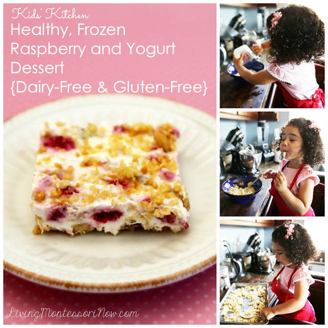 Healthy, Frozen Raspberry and Yogurt Dessert {Dairy-Free & Gluten-Free}