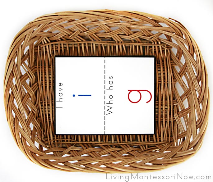 I Have, Who Has? Beginning Letter Sounds Basket