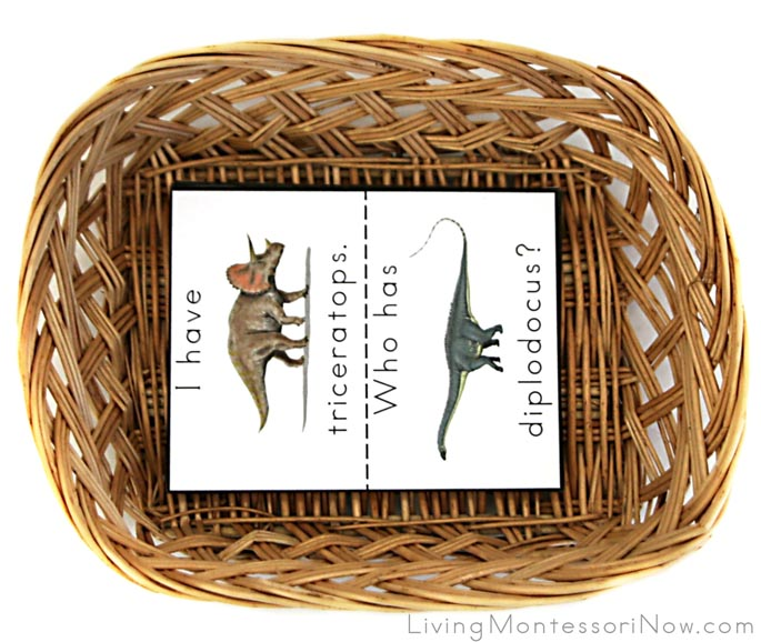I Have, Who Has? Dinosaur Game Basket