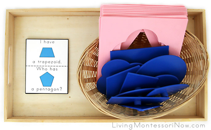 I Have, Who Has? Geometric Shapes Tray (When Using Plastic Insets)