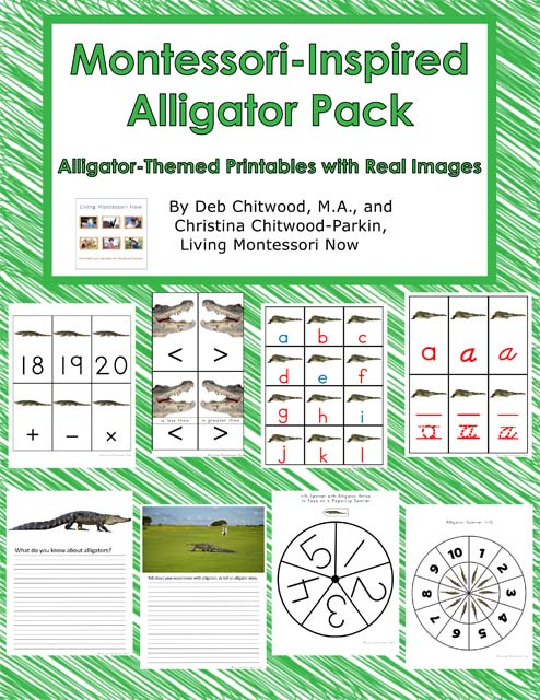 Montessori-Inspired Alligator Pack