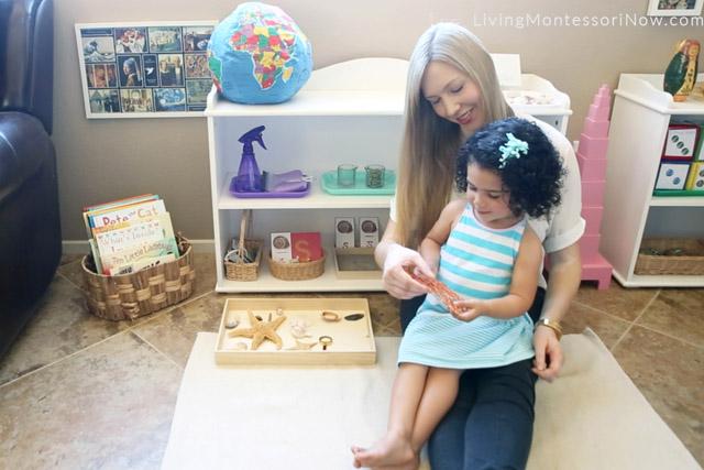 "Saying the Name ""Sea Fan"" - 1st Period of the Montessori 3-Period Lesson"