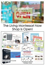 The Living Montessori Now Shop Is Open! {Montessori Monday}