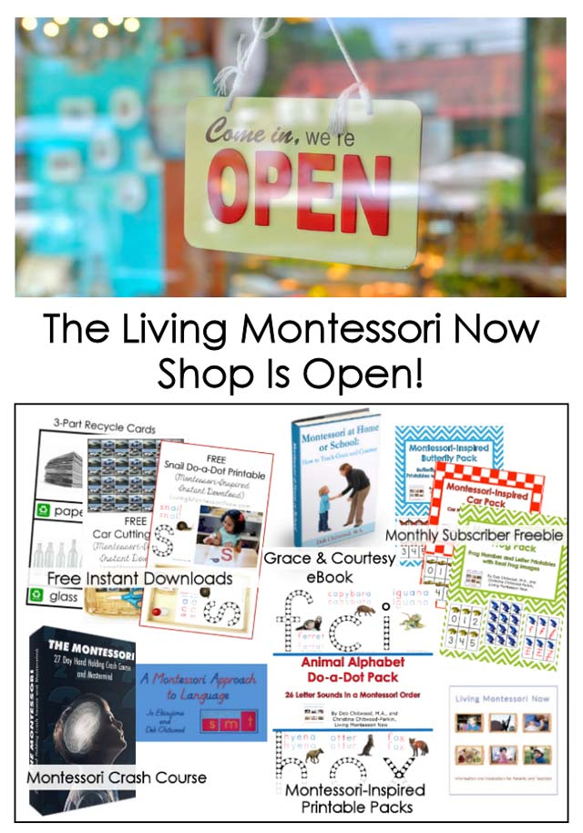 The Living Montessori Now Shop Is Open!