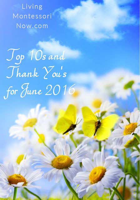 Top 10s and Thank You's for June 2016