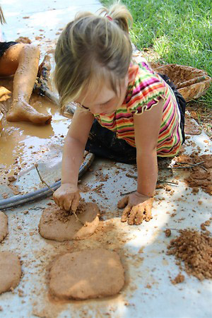 Writing on Clay Tablet with Twigs (Photo from Chasing Cheerios)