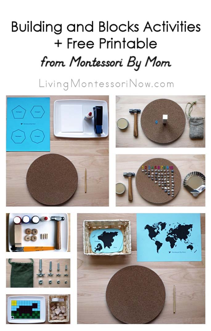 Building and Blocks Activities + Free Printable from Montessori By Mom